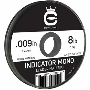 "Cortland Indicator Mono - White - 011"" / 10.5lb - 50ft"