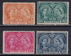 Canada Unused Jubilee Issues #51-54  MH/MNG