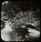 ANTIQUE Magic Lantern Slide POOL IN THE WHITE MOUNTAINS C1890 PHOTO USA AMERICA
