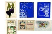 Vintage Christmas Cards w/Real Photos Black Am. + 1910 Christmas PC used [12-1