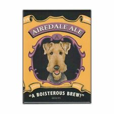 """Retro Pets Magnet, Airedale Ale, Airedale Terrier Dog, Advertising, 2.5"""" x 3.5"""""""