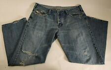 DIESEL Jeans Mens 38 X 30 Button Fly Distressed Ripped Faded Made In Italy