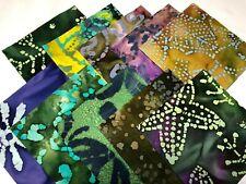 """40 5"""" Cotton Quilting Fabric Squares Charm Pack Pre Cut Purple Majestic Batiks"""
