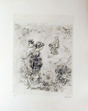 HANS BELLMER - PAYSAGE 1900 - ETCHING - VELIN D'ARCHES- SIGNED -PUBLISHED 1970