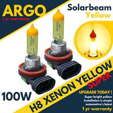 2X Amarillo H11 H8 Faros Antiniebla Xenon 100w Conducción Bombillas Diurnas