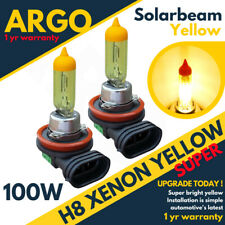 2x Yellow H11 H8 Fog Lights Xenon Yellow 100w Driving Bulbs Drl High Power