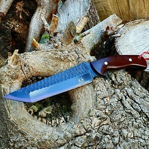 HUNITNG/CHOPPER/CAMPING HANDMADE BY FORGED HUNTER WITH MICARTA HANDLE