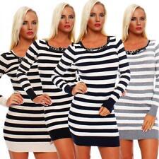 Plus Size Striped Stretch, Bodycon Dresses for Women