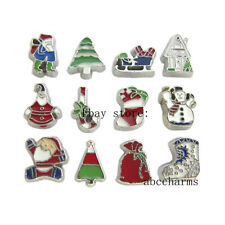 LOT 10pcs Mixed Christmas Floating charms For Glass living memory Locket