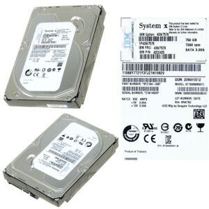 "IBM 43W7579 HDD 750GB 7200RPM SATA 3GB/s 3.5"" 42C0420"