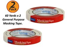 2 Pack - Masking Packing Tape - 0.71 inch X 2160 inch 60 Yards General Purpose