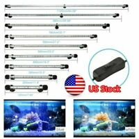 LED Waterproof Aquarium Light Bar Strip Fish Tank Water Plant Submersible Lamp
