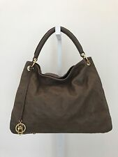 LOUIS VUITTON ARTSY MM M. EMPREINTE OMBRE EMBOSSED MONOGRAM BROWN LEATHER BAG