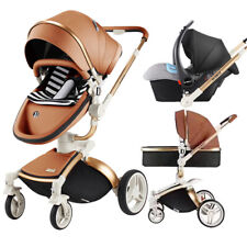 Baby Stroller 3 in 1 Folding Four Wheel for car 360 Degree Rotation Plus sunroof