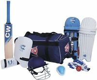 CW ACADEMY Blue Cricket Kit Including Kashmir Willow Bat 9 Batting Tools Size 5