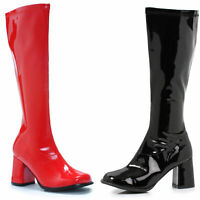Ellie 300-HARLEY Black Red 3 inch Knee High Boot (Blk-Left Red-Right)