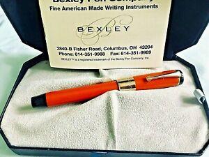 PRE-OWNED 18K & 10K GOLD BEXLEY *Deluxe Collection Mandarin ORANGE* Fountain Pen
