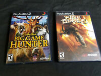 PS2 Lot of 2 Games Fire Blade & Cabelas Big Game Hunter Tested Playstation 2