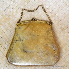 Vintage 1950's Ladies AmericanGold Confetti Clear Plastic Handbag/Purse, Lucite