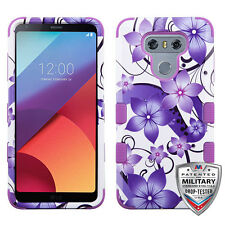 LG G6 Shockproof TUFF HYBRID Rubber Silicone Protector Rugged Hard Case Cover
