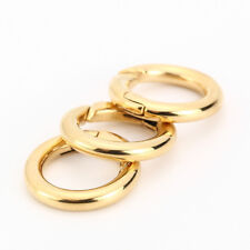 well polished Silver/gold Tone keyring holder ring heavy duty clasps