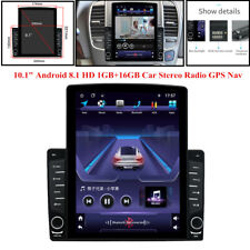"1DIN Rotatable 10.1"" Android 9.1 HD Video Player USB FM Car Stereo Radio GPS Nav"