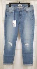 NWT $209 PAIGE Women's Jeans Mid-Rise Kylie Crop w/Roll Up Destructed 30x26 C2