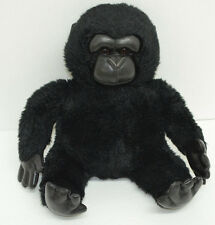 "Gund Black Gorilla Plush Monkey Bean Bag Bottom #5048 14"" Faux Leather Face"