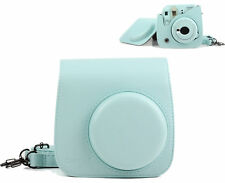 For Fujifilm Instax Mini 9 Camera Ice Blue PU Leather Shoulder Bag Case Cover AU