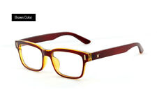 Hot Fashion Mens Womens Retro Clear Lens Glasses Frame Eyewear Unisex - Brown