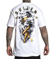Sullen Men's Gold Digger Short Sleeve T Shirt White Clothing Apparel Tees Skate