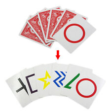 Funing Esp Symbol Cards Mentalism Six Card Magic Trick Mental Mind Card Gift KS