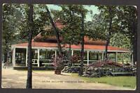 1911 POSTCARD*ARCADE BUILDING*VINEWOOD PARK*TOPEKA KANSAS*KS*QUITMAN ARKANSAS*AK