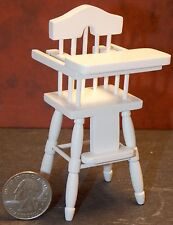 Dollhouse Miniature Baby High Chair White 1:12 one inch scale E81 Dollys Gallery