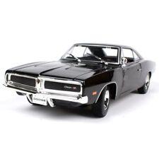 Maisto 1/18 1969 Dodge Charger RT Diecast Car Model Black