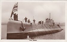 "Royal Navy Real Photo. HM ""Oberon"" Odin-class submarine.  At Launch. 24/9/26"