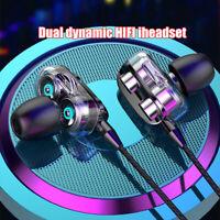 HIFI Super Bass Headset In-Ear Earphone Stereo Earbuds Sport Headphone Wired+Mic