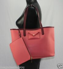 MARC By Marc JACOBS Metropolitote 48 COLORBLOCK Tote ROSE Pink LEATHER Bag PURSE