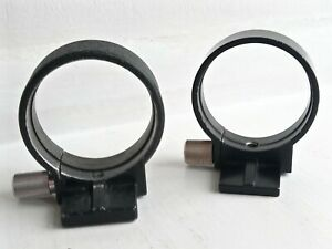 2 x Vintage Metal Tripod Mount Collar Rings