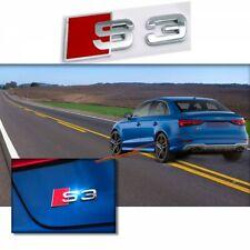 AUDI S3 EMBLEMA BADGE LOGO Cromo Adesivo SLine A3 A4 A5 A6 TT RS3 RS4 RS6 Q5 Q7
