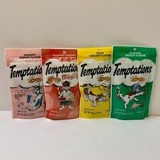 TEMPTATIONS Cat Treats All Cats Love! (Lot Of 4) BRAND NEW FACTORY SEALED! (DS)!