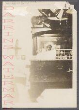 Unusual Vintage Photo Man in Mirror Reflection & Model Airplanes 758475