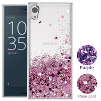 For Sony Xperia 1 10 Plus XA2 Ultra XZ3 Liquid Glitter Quicksand TPU Cover Case