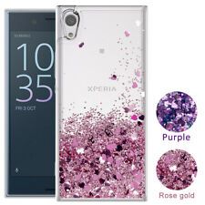 For Sony Phone Case Cute Glitter Liquid Quicksand Clear TPU Protective Cover