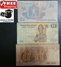 Lot of three different banknotes - EGYPT - FREE SHIPPING WORLDWIDE