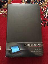 "Toshiba Portfolio Case for 10"" Toshiba Tablet - BRAND NEW - Black - Faux Leather"