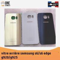 vitre arrière couvercle cache batterie Samsung Galaxy s6/s6 edge +ADHÉSIF