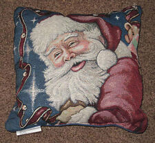 Santa's Night ~ Christmas Tapestry Square Pillow