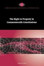 Cambridge Studies in International and Comparative Law: The Right to Property...