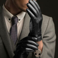 Fashion Men Winter Leather Motorcycle Full Finger Touch Screen Warm Gloves T7 US